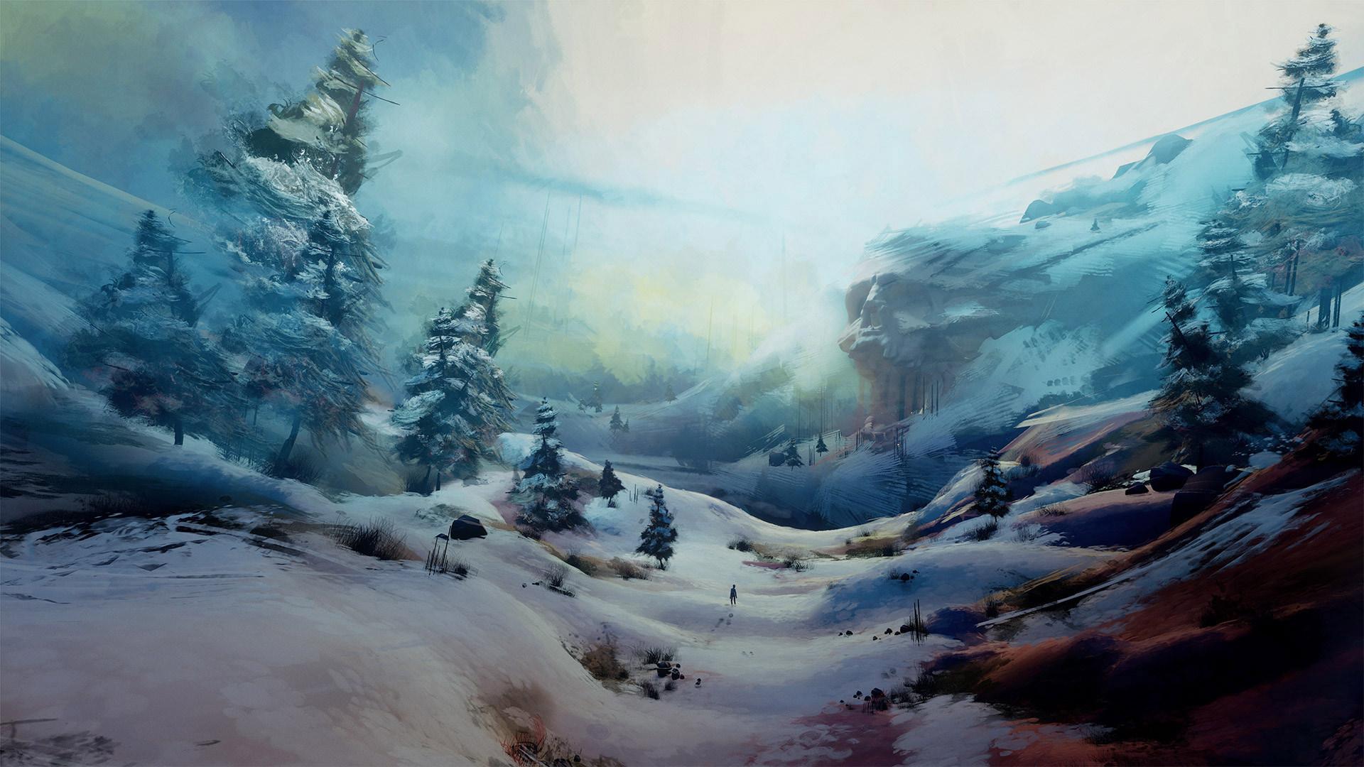 A wintery scene
