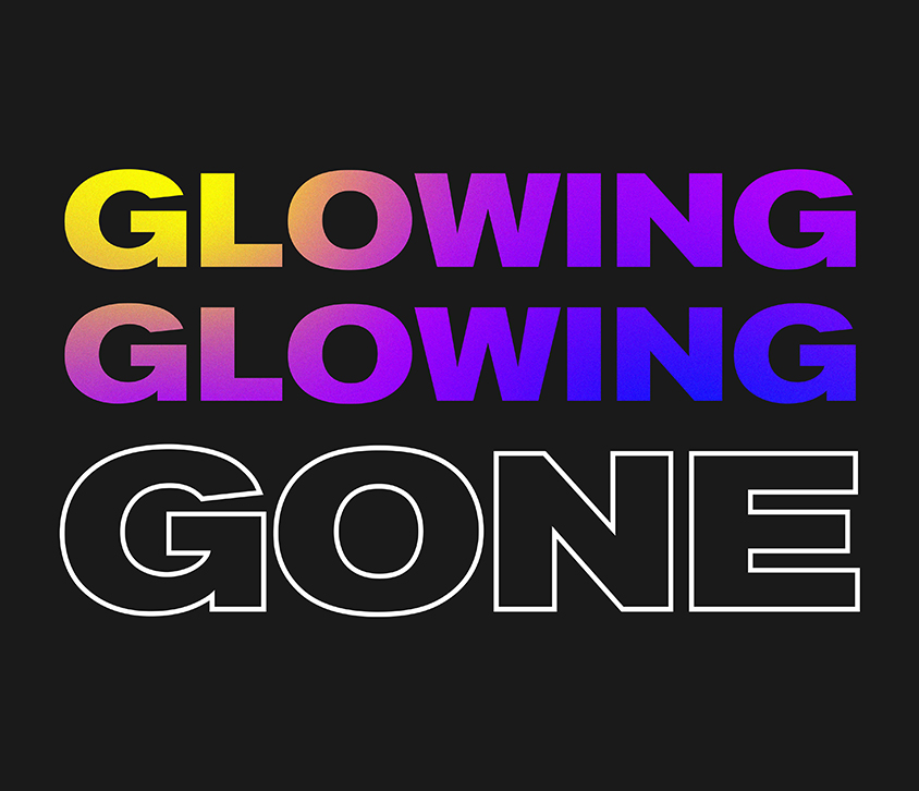 (links) Logo der Play4Forests-Initiative (rechts) Logo der Glowing, Glowing Gone-Initiative