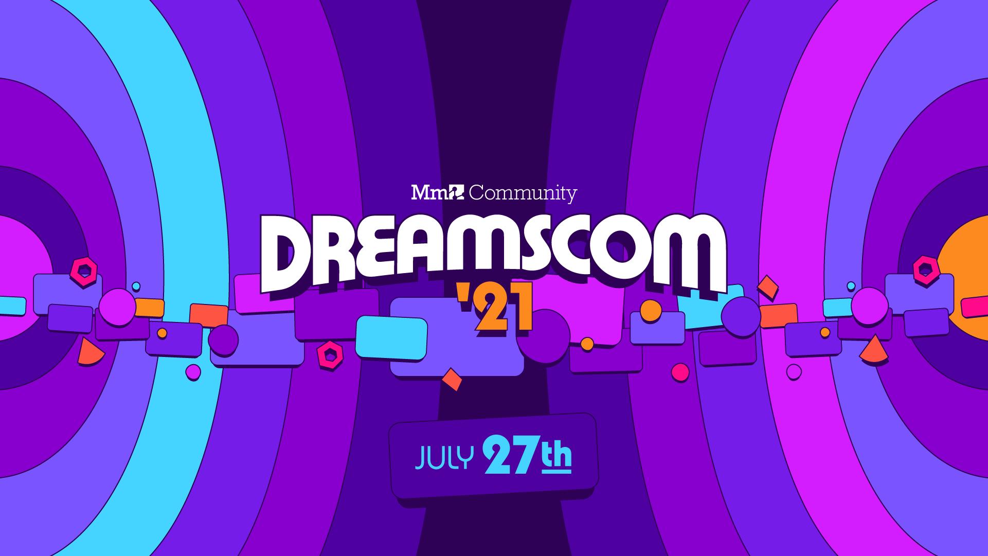 The logo for DreamsCom '21.