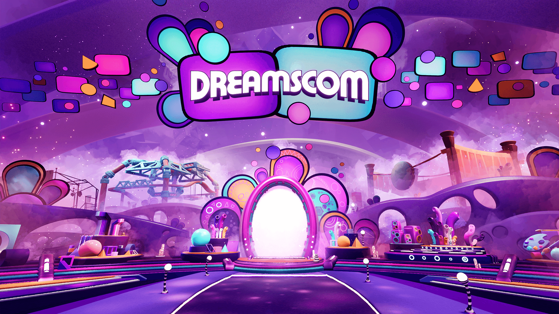 The entrance to the #DreamsCom21 show floor