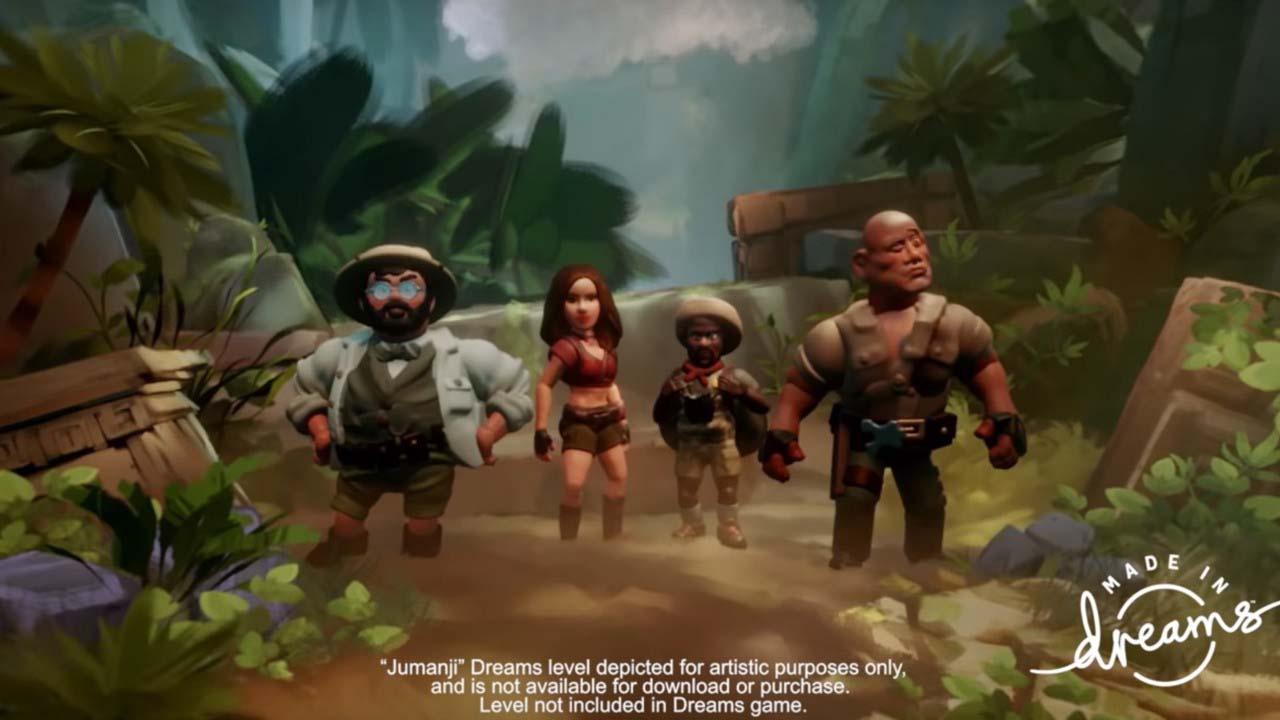 Screenshot aus dem Jumanji-Minispiel
