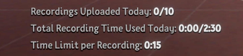 Modifications de l'interface dans le jeu pour préciser les nouvelles limites audio.