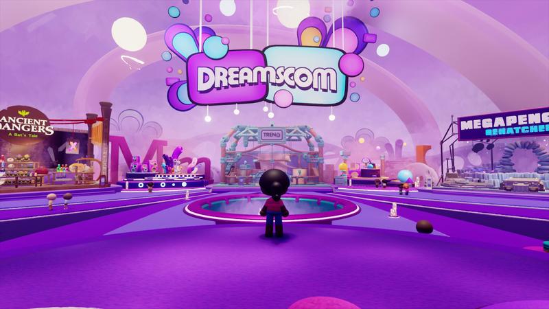 Du kannst den Ausstellungsbereich der DreamsCom '21 persönlich in Dreams besuchen.